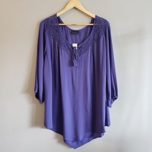 Addition Elle 3/4 Sleeve Plus Size 20 Tunic Top
